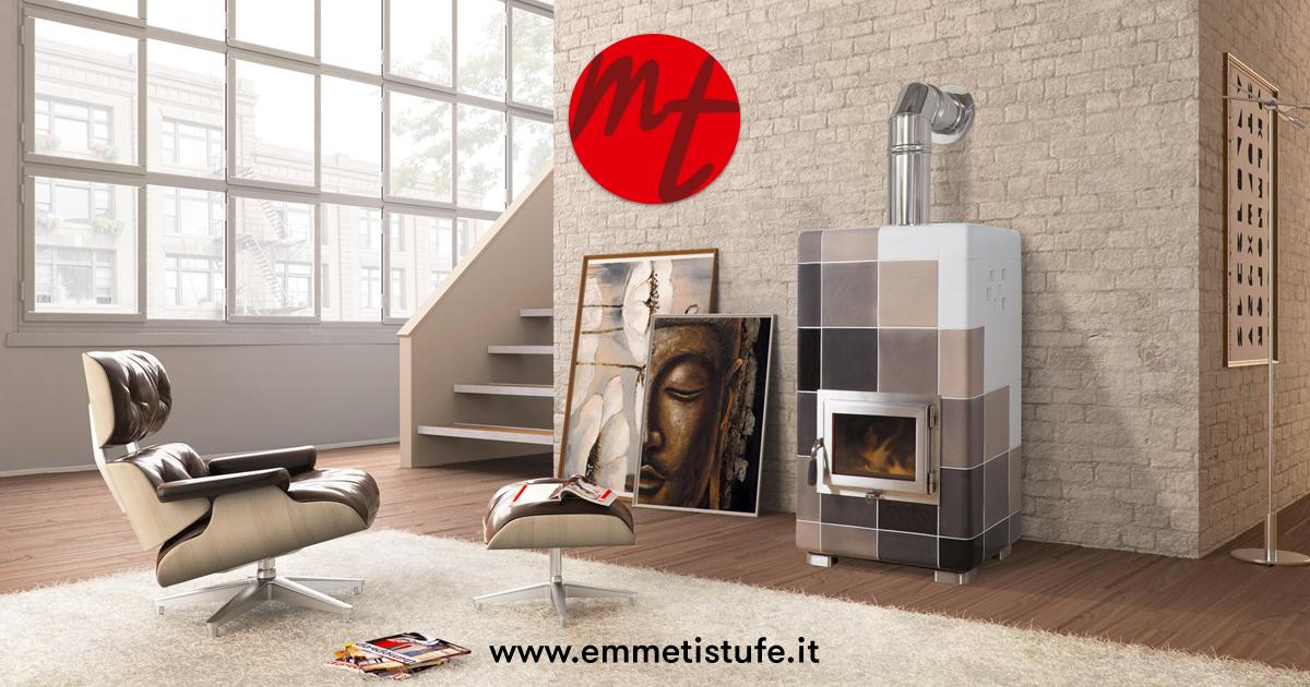 Stufa a pellet ventilata ozzy mt design stufe - Stufe a pellet design ...